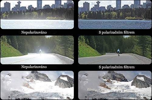 polarizační brýle - polarizační filtr