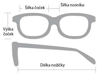 rozměry sportovní brýle